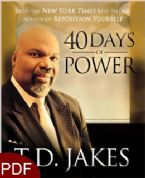 40 Days of Power (E-Book-PDF Download) By T.D.Jakes