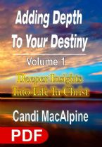Adding Depth To Your Destiny: Deeper Insights Into Life In Christ - Volume 1 (E-Book PDF Download) by Candi MacAlpine