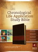 CChronological Life Application Bible NLT Tan/Brown Imitation Leather (Bible) by Tyndale House Publishers - Click To Enlarge