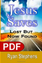 Jesus Saves: Lost But Now Found (E-Book PDF Download) by Ryan Stephens