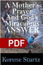 A Mother's Prayer And God's Miraculos Answer (E-Book) By Korene Sturtz