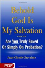 Behold God Is My Savlation (E-Book PDF Download) By Jean-Claude Chevalme