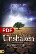 CUnshaken: Standing Strong in Uncertain Times  (e-Book PDF download) by Jeanne Nigro - Click To Enlarge
