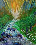 CStreams of Living Water (artwork 8X10) by Janice VanCronkhite - Click To Enlarge