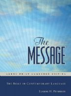 The Message Bible Large Print Numbered (Bible) By Eugene Peterson